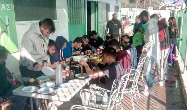 Έκανε το τραπέζι ο Ηλίας Φωτόπουλος μετά την προπόνηση (φωτό)